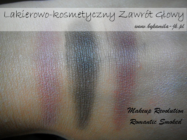 Paleta cieni Makeup Revolution Romantic Smoked swatch swatche