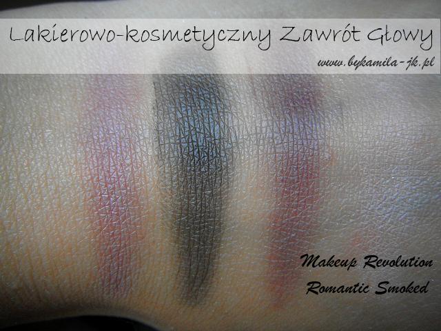Paleta cieni Makeup Revolution Romantic Smoked swatch swatche