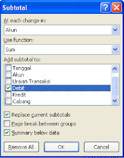 option subtotal in excel