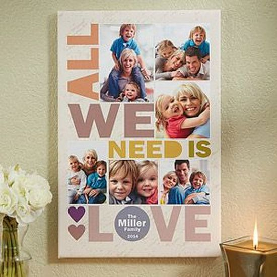 DIY Christmas gift idea - personalized family picture board