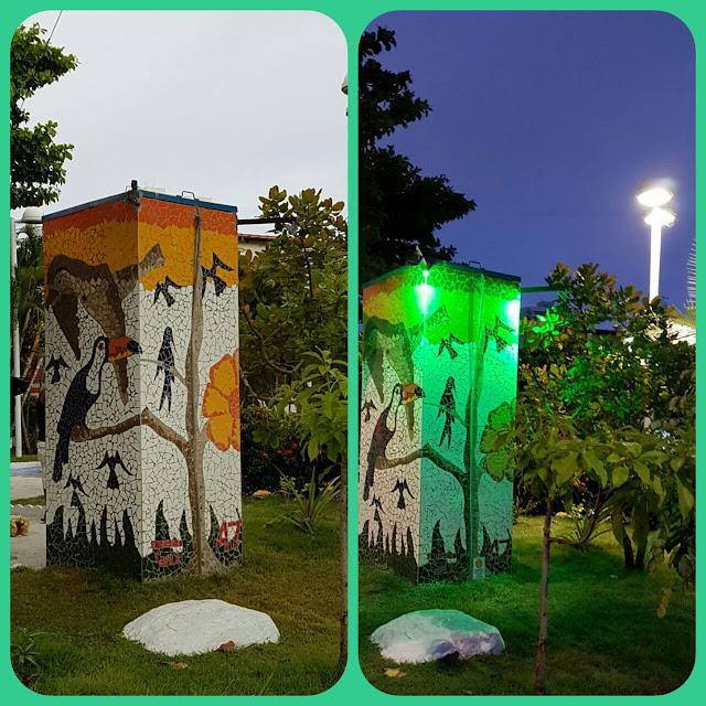 Mais um toque de arte na Praça Carlos Batalha