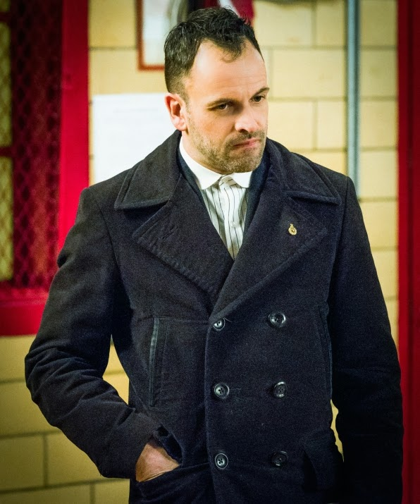 Jonny Lee Miller as Sherlock Holmes in CBS Elementary Season 2 Episode 17 Ears To You