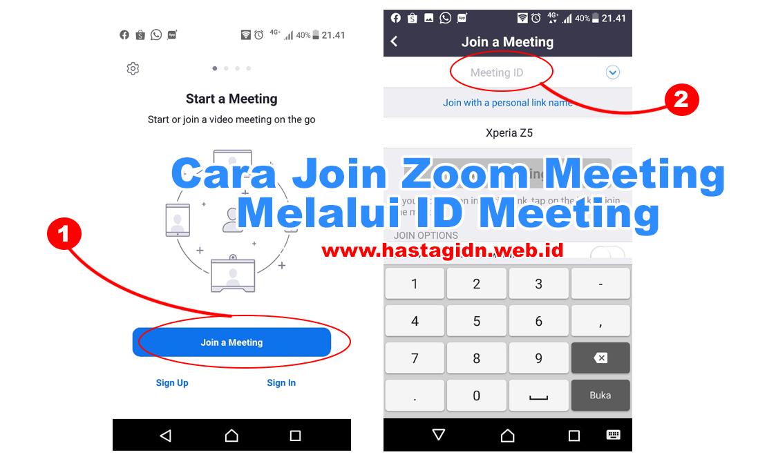 Cara Join Zoom Meeting Menggunkan Melalui ID Meeting