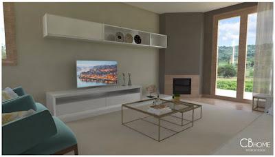 Sugestão de Decoração para uma Sala Moderna da CBHome