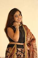 Lasya looks super cute in black choli Saree at Raja Meru Keka Press Meet ~  Exclusive 112.JPG