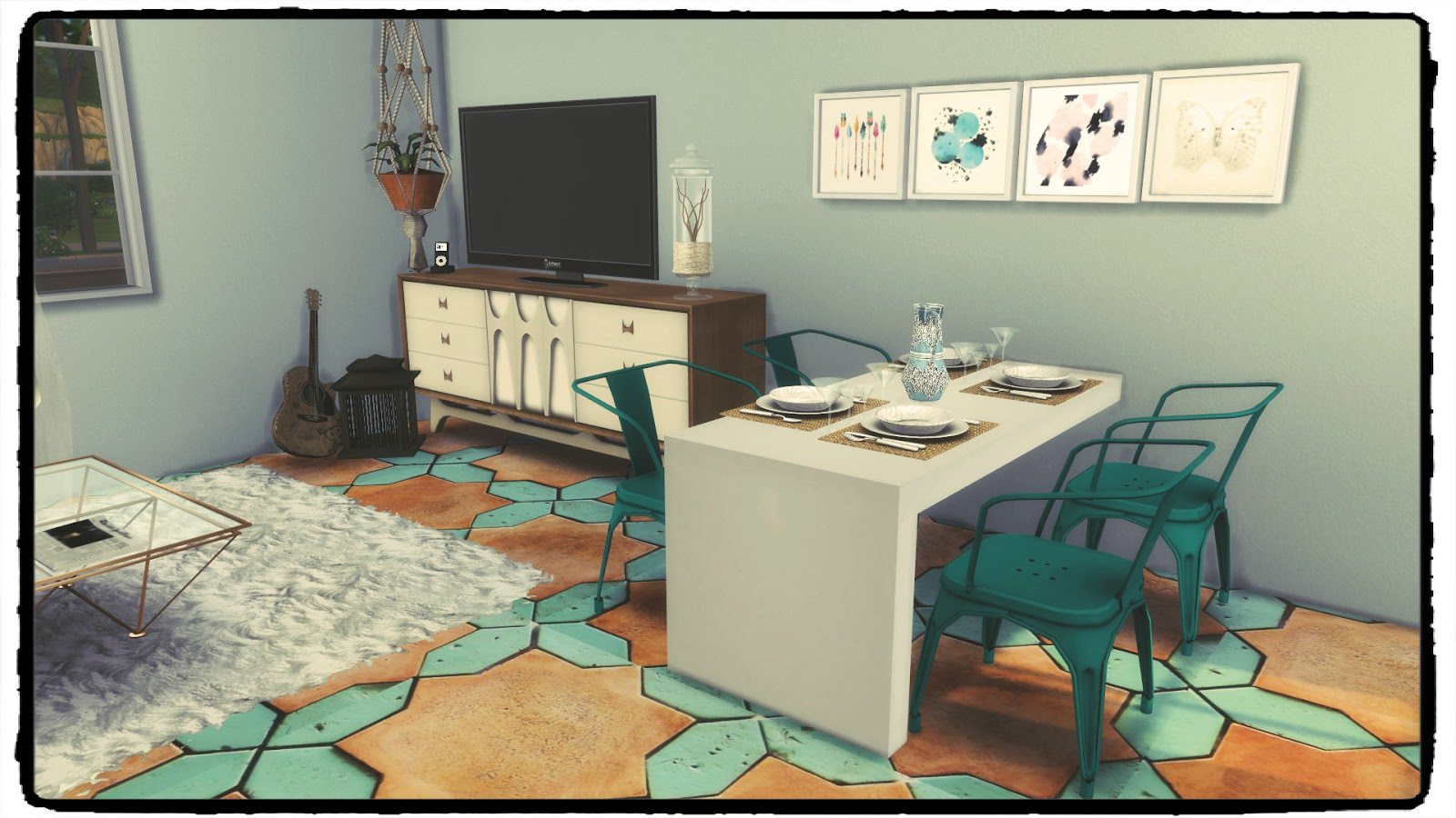 Sims 4 kitchen living room iii build decoration for Living room n kitchen