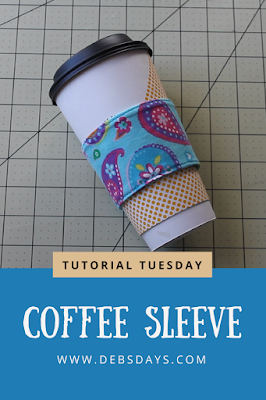 Homemade Coffee Sleeve from Fabric Sewing Project