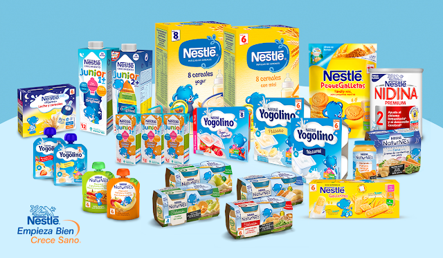 Lote grande de productos Infantiles Nestle