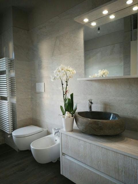 Rinnovare il bagno con i lavabi in pietra naturale