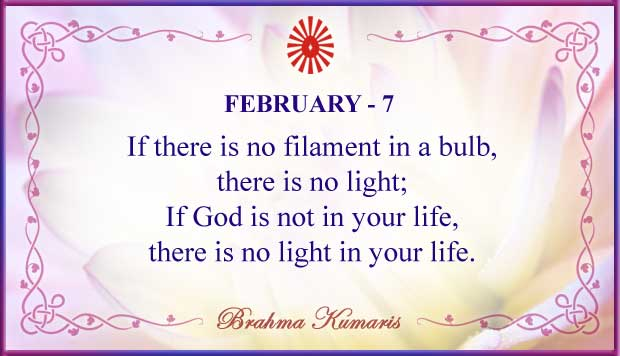 Thought For The Day February 7