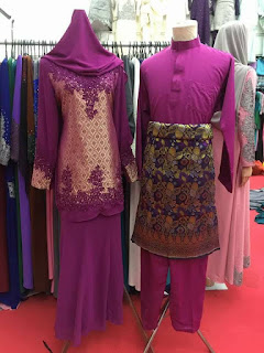 baju pengantin purple