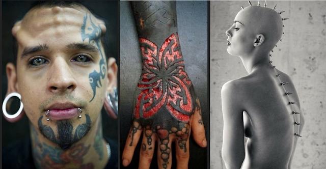 Resultado de imagem para tatuagens e piercings fotos