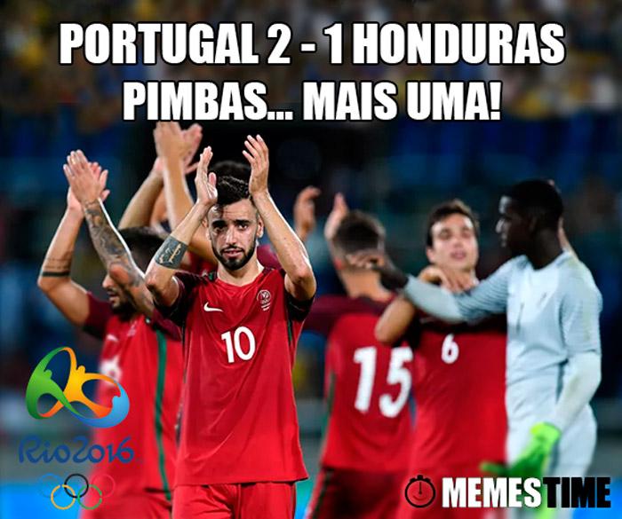 Memes Time Portugal 2 Honduras 1 Torneio de Futebol Rio 2016 – Portugal 2 Honduras 0 Pimbas… Mais uma!