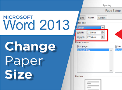 Change Ms Word Paper Size