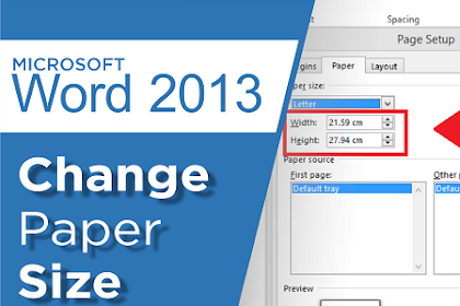 How to Change Paper Size in Ms Word 2013