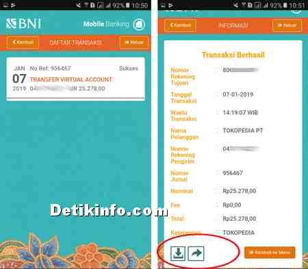 Cara Melihat Bukti Transfer di Aplikasi BNI Mobile Banking