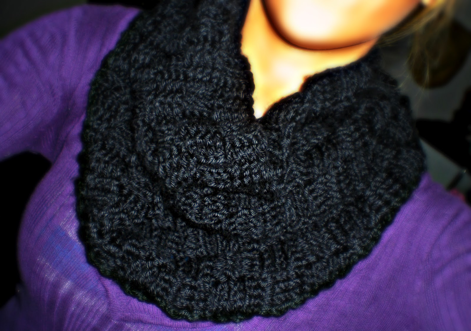 A Little Loopy But I M Hooked Basketweave Stitch Infinity Scarf