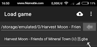 cara cheat harvest moon gba emulator android