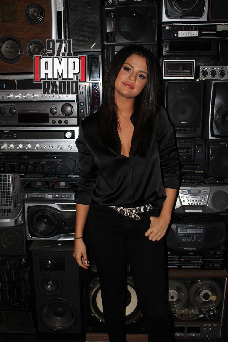 Selena Gomez – 97.1 AMP Radio in NYC