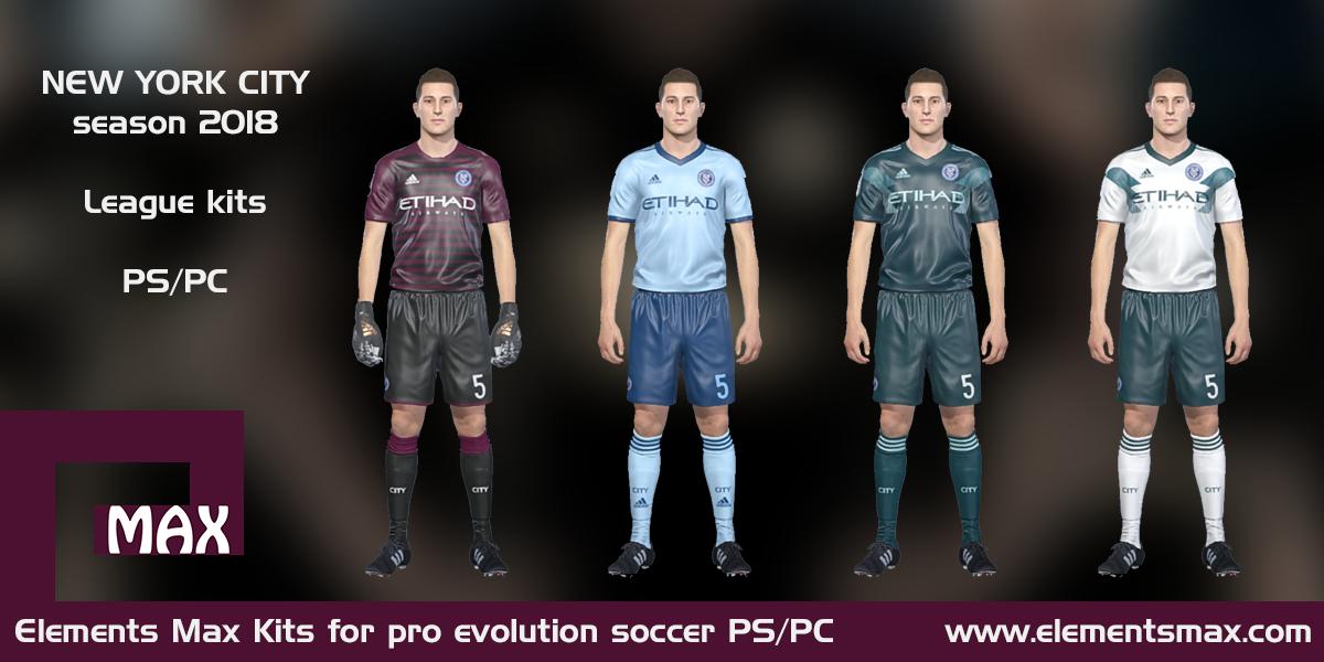 new styles 0f4d0 2ce01 Elements MAX Kits: New York City PES kits 2018