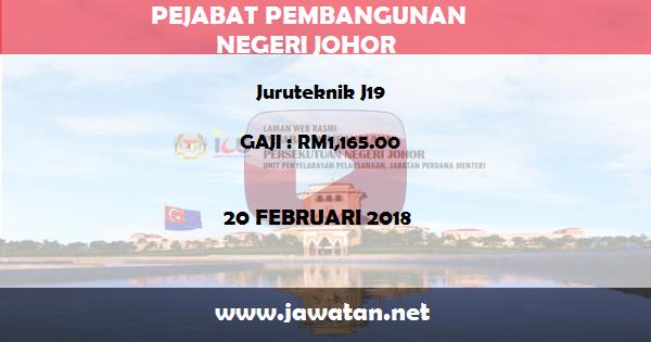 Jawatan Kosong di Pejabat Pembangunan Persekutuan Negeri (PPN) Johor
