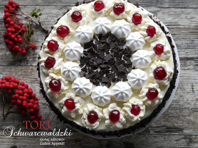 Tort szwarcwaldzki - Schwarzwälder Kirschtorte - Czytaj więcej »