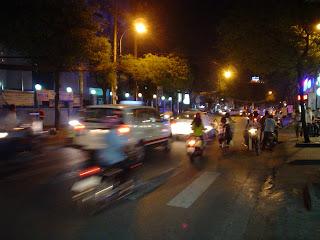 Motos en Saigon, Vietnam