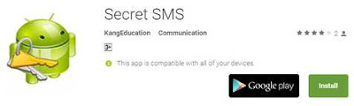 Aplikasi SMS rahasia ( Secret SMS )