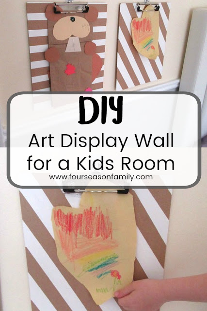 kids room art display