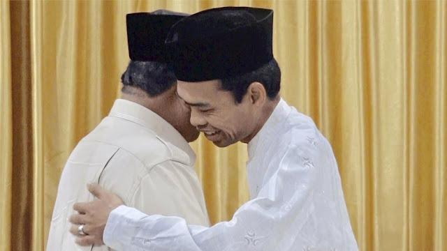UAS Nasehati Prabowo untuk Tabah Kuat: Jihad yang Paling Besar Menjadi Pemimpin