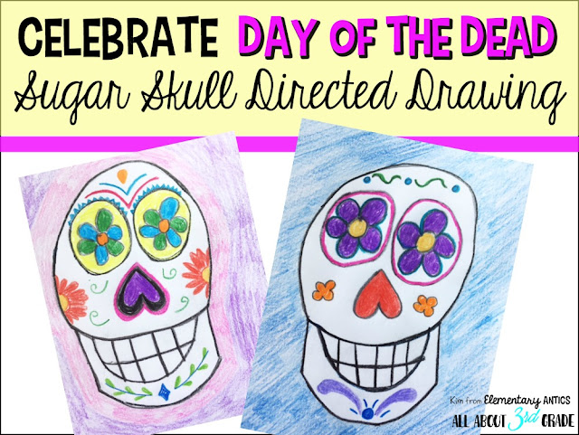 Engage your students with this fun sugar skull directed drawing freebie!
