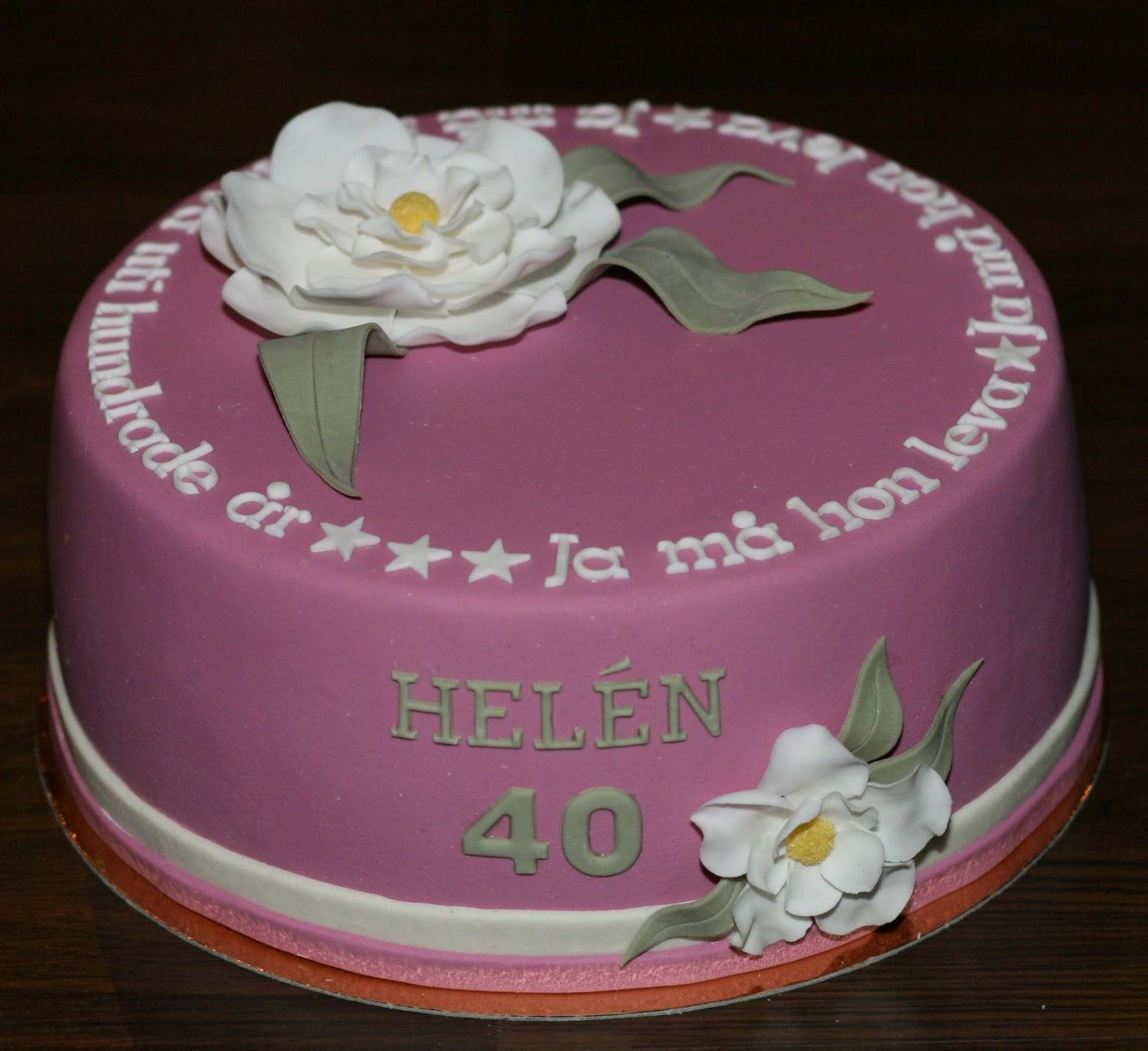 tårta 40 år Josse   mitt i maten: Heléns 40 års tårta tårta 40 år