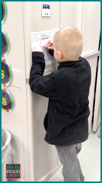 write the room activity- writing on vertical surfaces