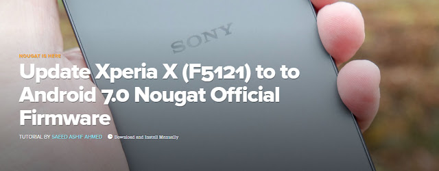 Update Xperia X (F5121) to to Android 7.0 Nougat Official