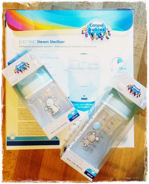 Elektryczny sterylizator parowy i butelki Little Cutie od Canpol Babies