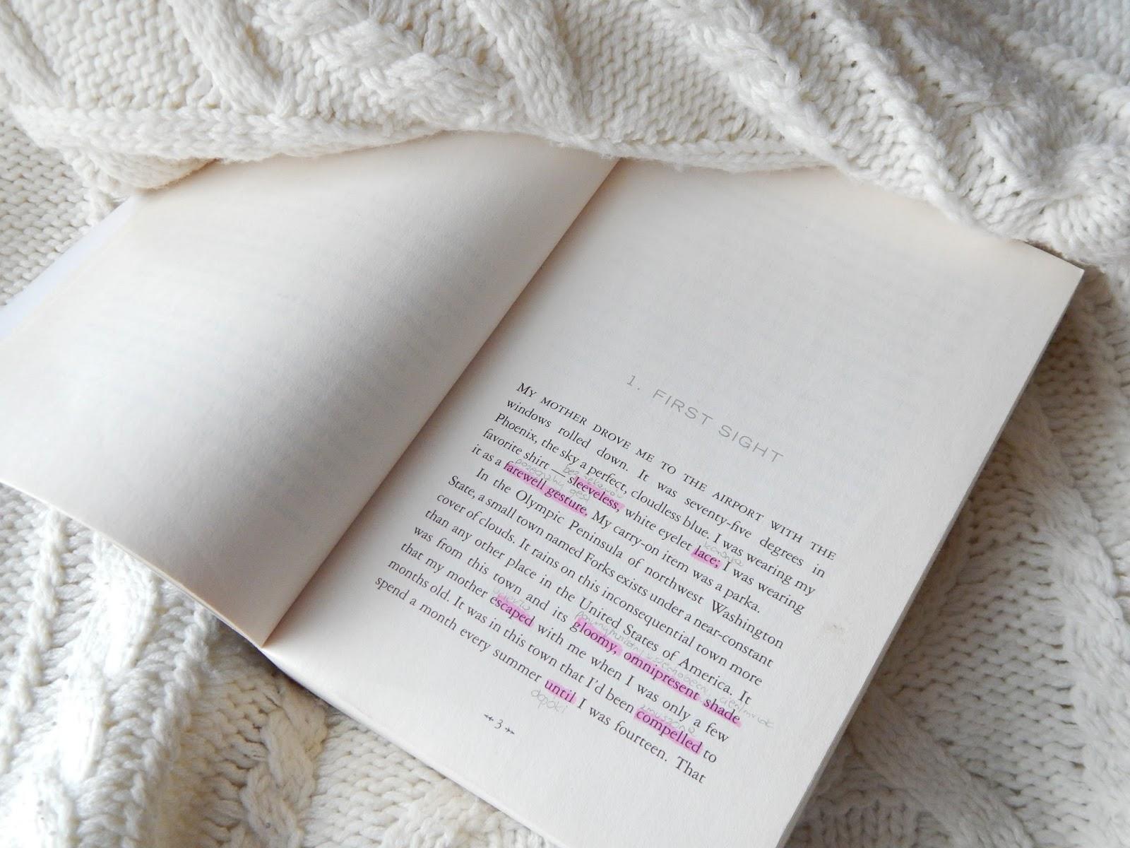 czytanie książek - zmierzch