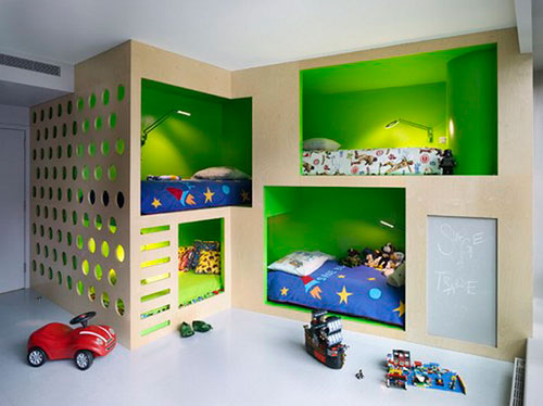 Stunning Design Ideas Of Cool Kids Bedroom With Cream Color