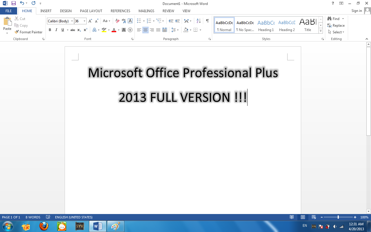 download microsoft word 2013 full version