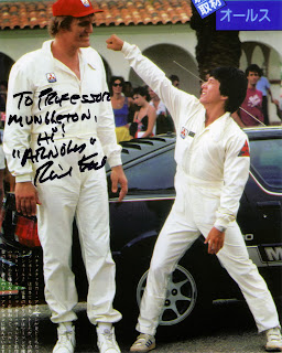 promotional photo from cannonball run 2 professor mungleton signed