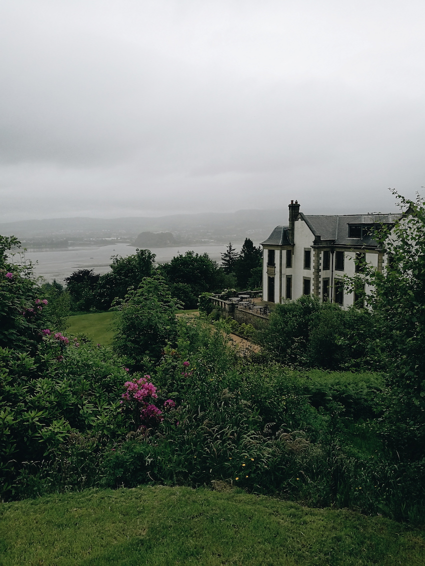 view from gleddoch hotel and spa