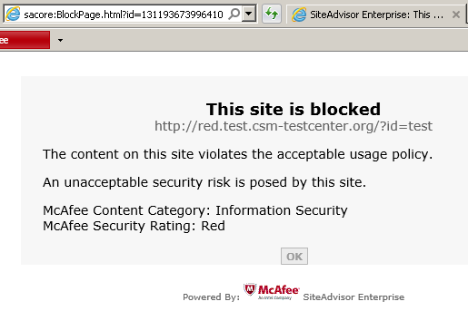 UXSS in McAfee Endpoint Security, www mcafee com and some