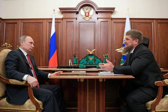 Vladimir Putin and Ramzan Kadyrov, Head of the Chechen Republic