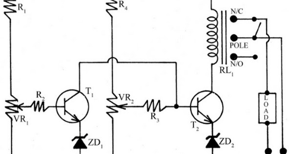 simple low  high voltage cut circuit based on transistor