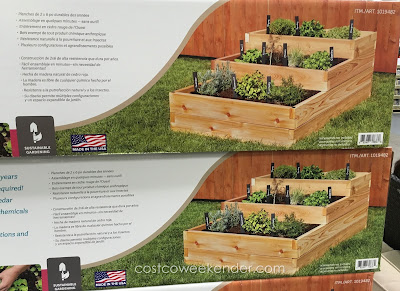 Lapp Structures YardCraft Western Red Cedar Raised Garden Bed - great for your backyard