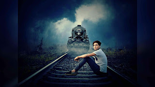 Alone Boy on Track Picsart Photo Manipulation
