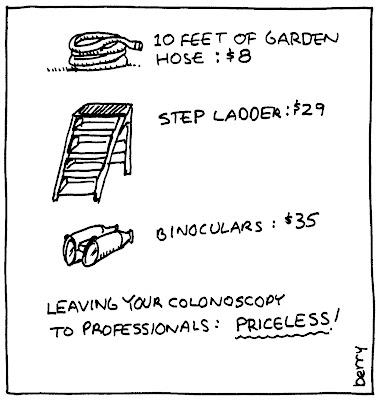 Cartoons for Causes: colonoscopy cartoon