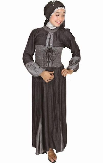 Model Baju Gamis Pesta Muslim Brokat Sifon