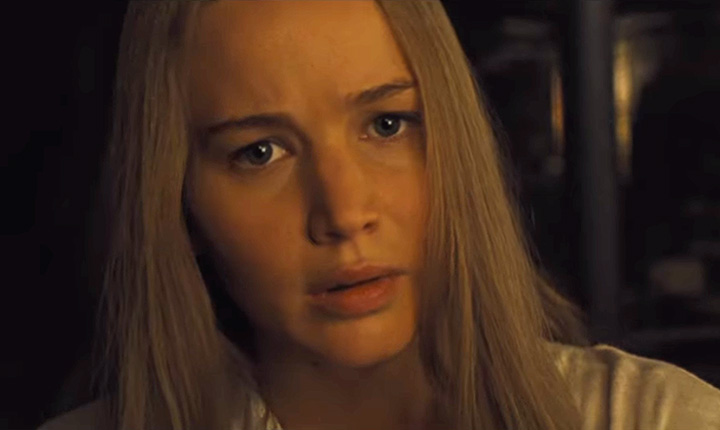 Jennifer Lawrence no trailer do filme Mãe!