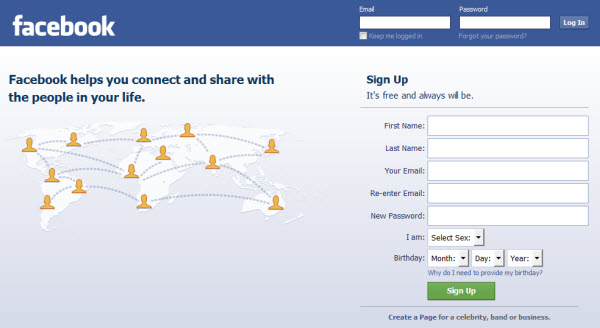 Co www sign facebook up uk Add or