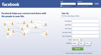 My Facebook UK Login Page
